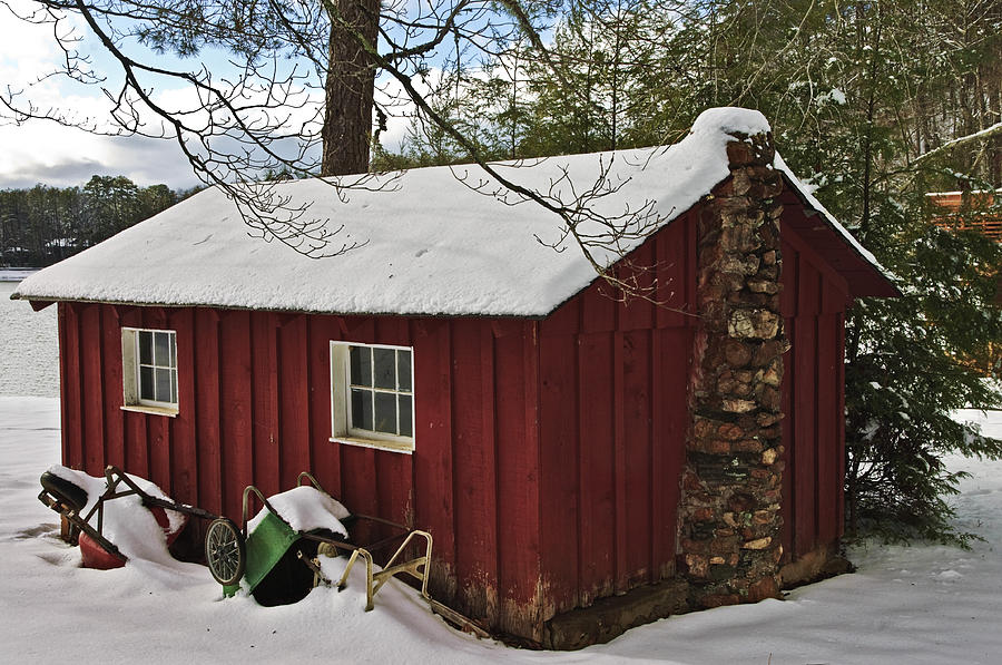 Small Photograph - Winter Shed by Susan Leggett