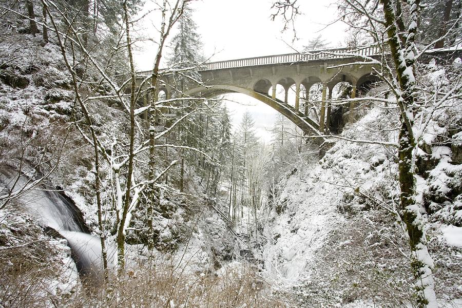 Architecture Photograph - Winter, Shepperds Dell, Columbia River by Craig Tuttle