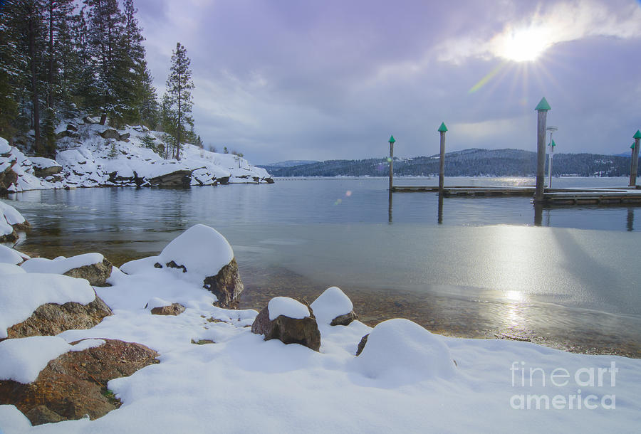 Coeur D'alene Photograph - Winter Shore by Idaho Scenic Images Linda Lantzy