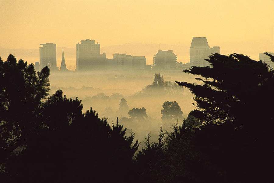 Hhh Photograph - Winter Smog Over The City by Colin Monteath