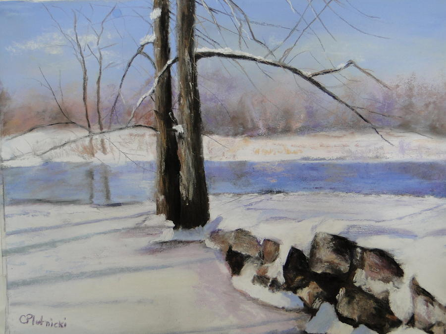 Winterscape Pastel - Winter Solace by Cindy Plutnicki