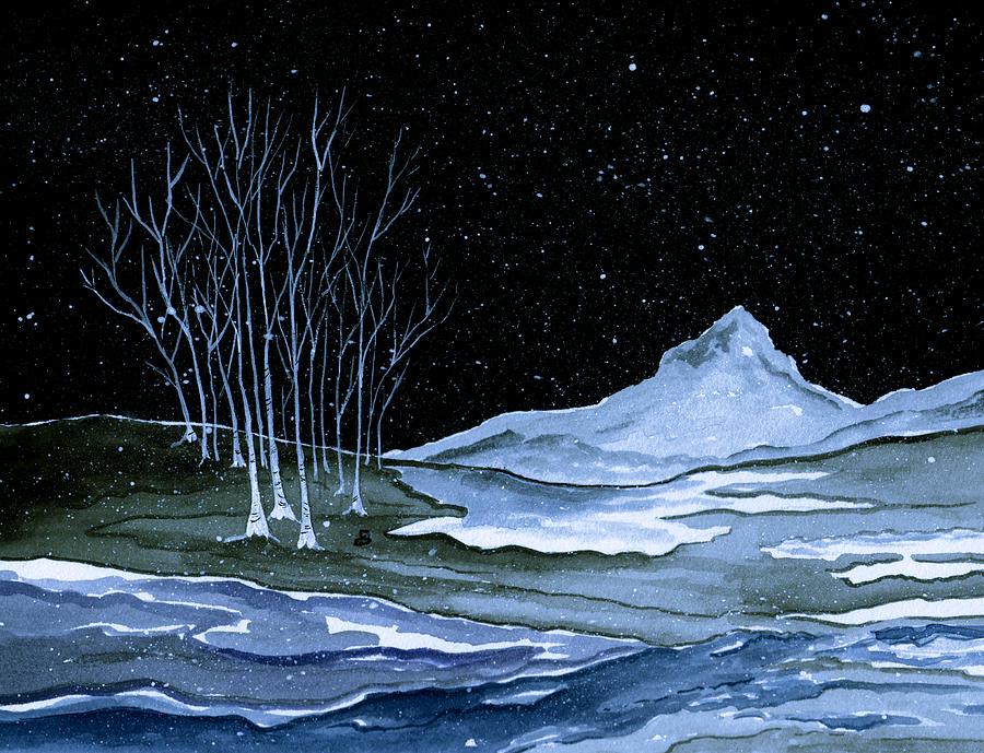Landscape Painting - Winter Solstice by Brenda Owen