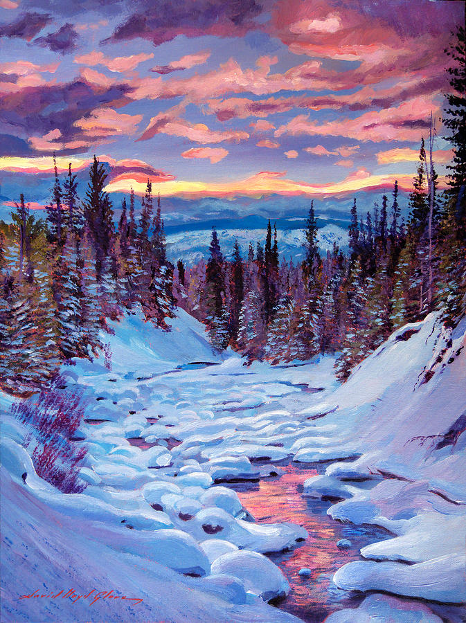 winter solstice painting by david lloyd glover