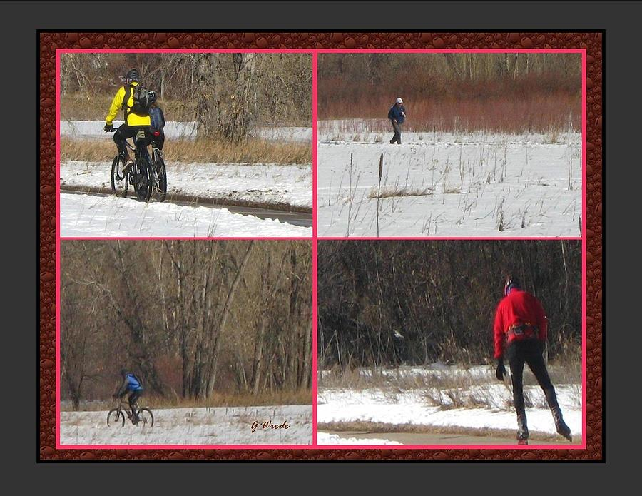 Bicycling Photograph - Winter Sports 2 On Bear Creek Trail by Gretchen Wrede