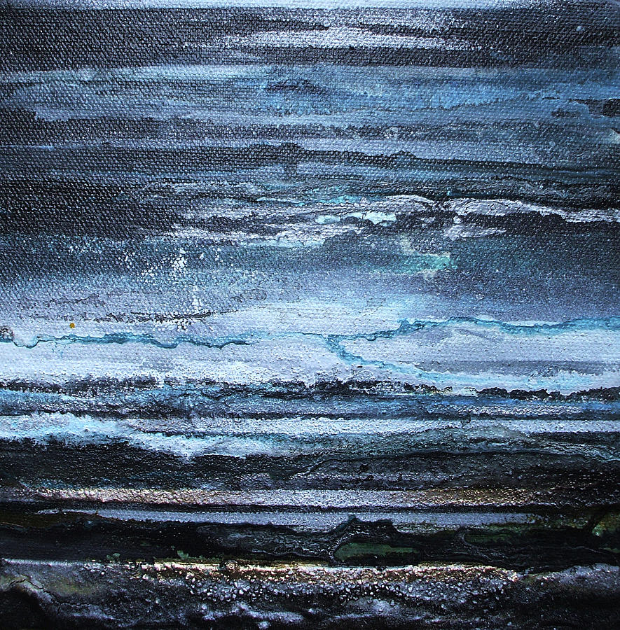 Storms Mixed Media - Winter Storms And Moonlight No1 by Mike   Bell