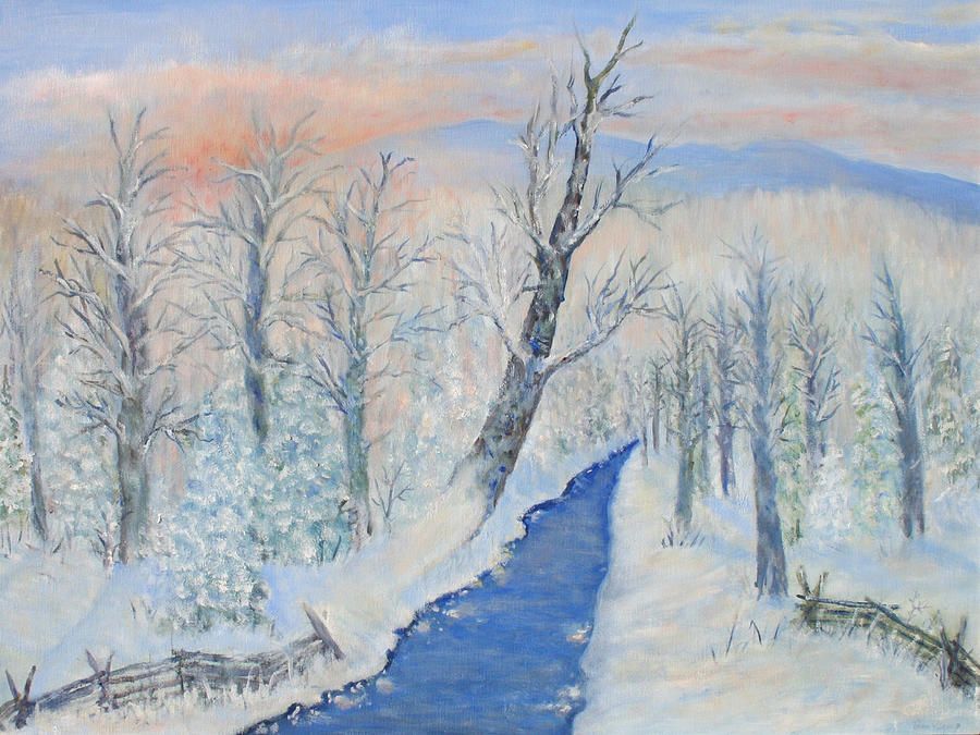 Winter Painting - Winter Sunrise by Ben Kiger