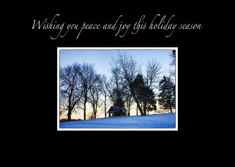 Christmas Photograph - Winter Sunset Christmas Card by Daphne Sampson