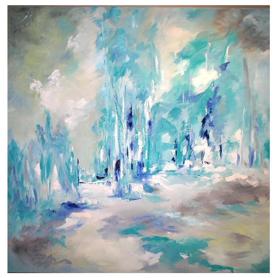 Trees Painting - Winter Symphony by Sue Prideaux