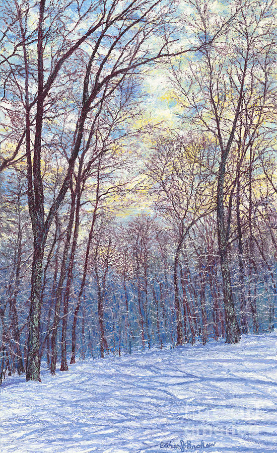 Landscape Painting - Winter Trees by Esther Brokaw