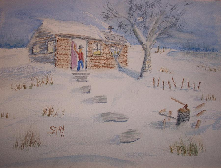 Spin Painting - Winter Welcome by Spencer  Joyner