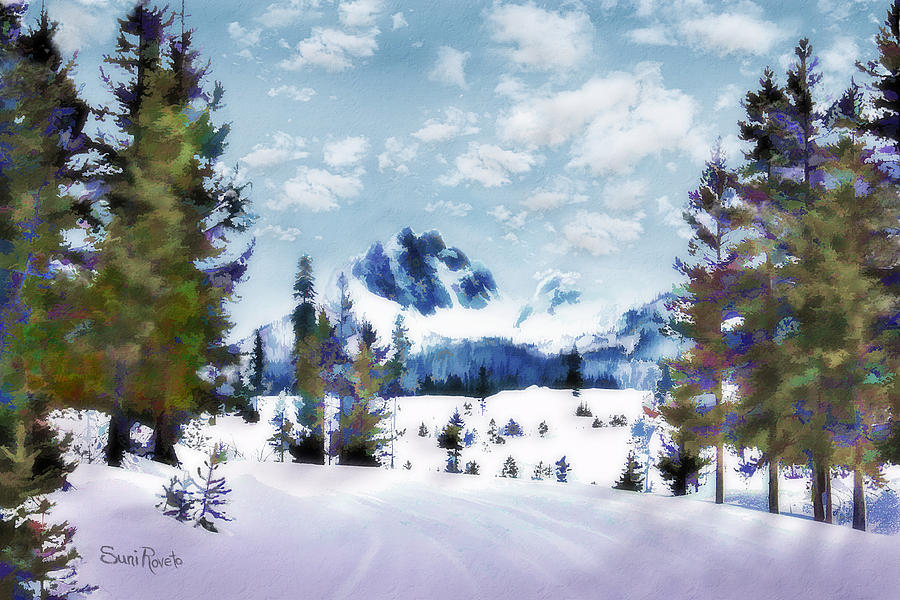 Calm Painting - Winter Wonderland by Suni Roveto