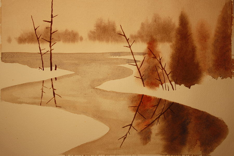 Snow Painting - Winterbend by Jeff Lucas
