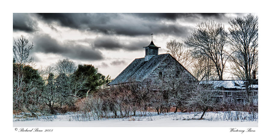 Architecture Photograph - Wintering Barn by Richard Bean