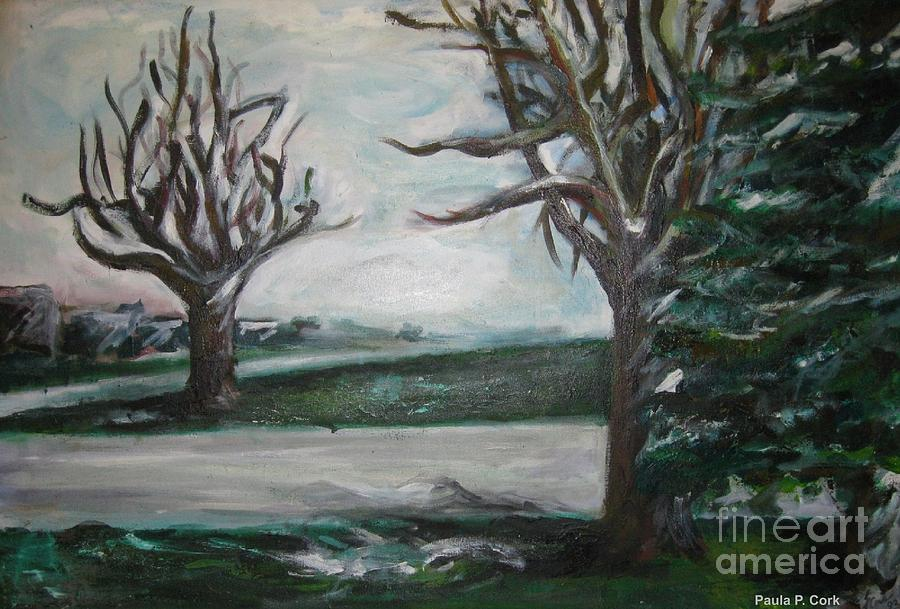 Landscape Painting Painting - Winterland Slumber by Paula Cork