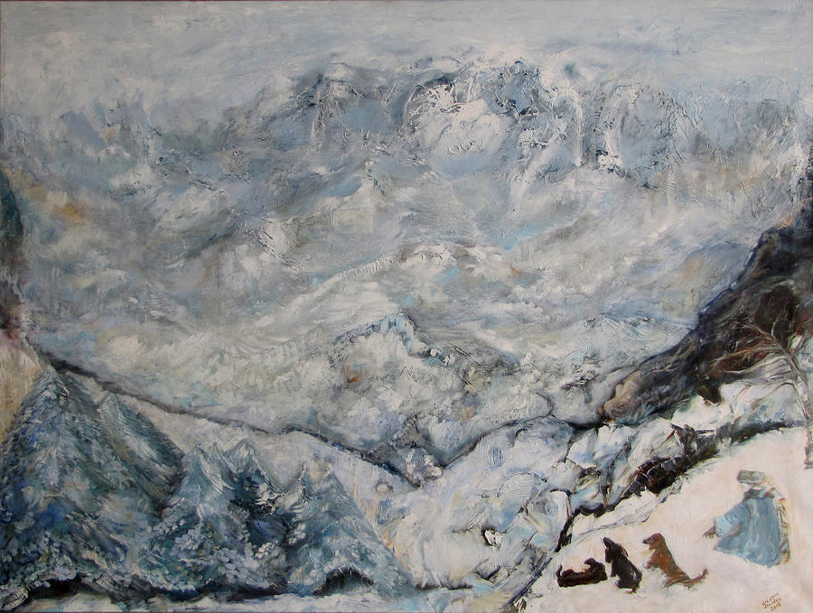 Winter Scene Painting - Winterlude by Susan Hanlon