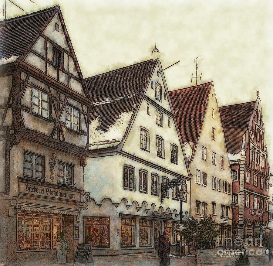 Photo Photograph - Winterly Old Town by Jutta Maria Pusl