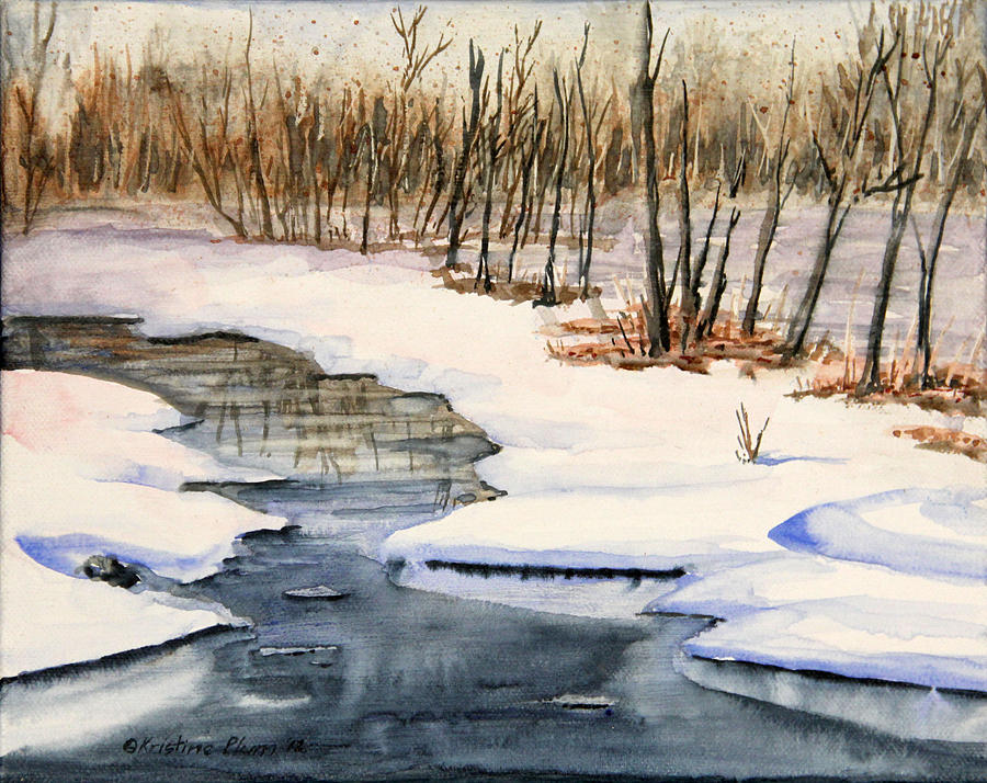 Snow Painting - Winters Delight by Kristine Plum