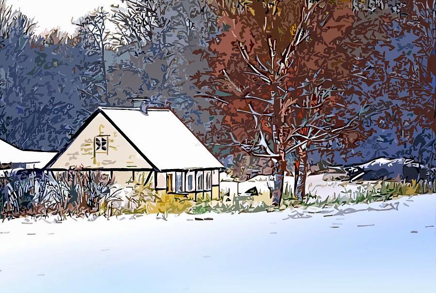 Winter Digital Art - Winther In The Wood by Jakup Reinert Hansen