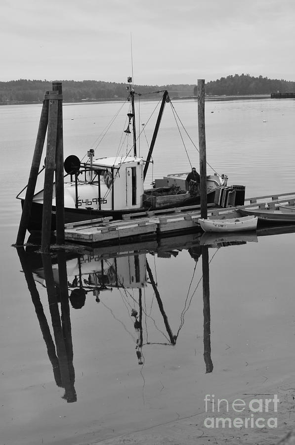 Wiscasset Photograph - Wiscasset Reflection by Catherine Reusch Daley