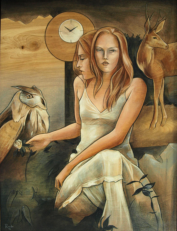 Clocks Painting - Wisdom To Know What The Hart Wants by Jacque Hudson