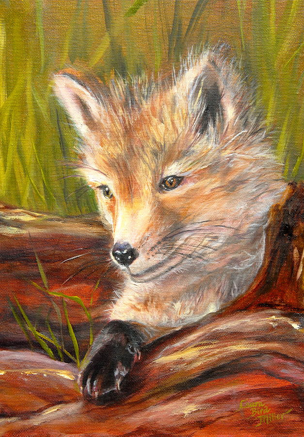 Fox Painting - Wise As A Fox by Laura Bird Miller