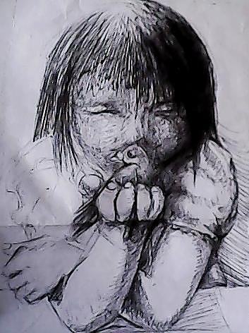 Child Drawing - Wish by Davidson Tiongson
