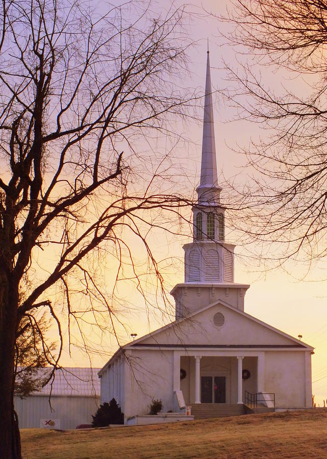 Country Church Photograph - Wish You Were Here by Karen Wiles