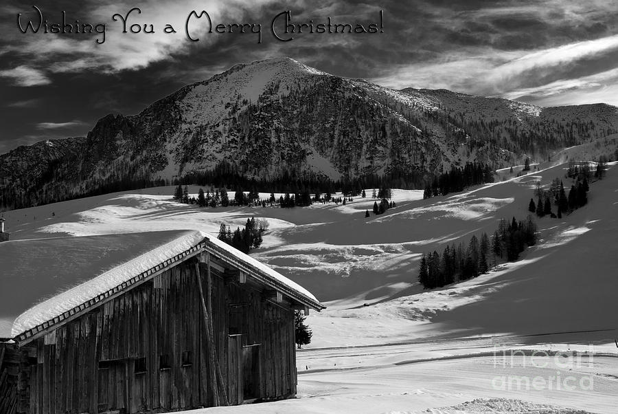 Winter Photograph - Wishing You A Merry Christmas Austria Europe by Sabine Jacobs