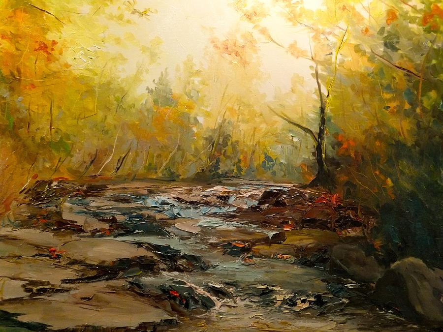 Landscape Painting - Wistful Waters by Sarah Jane Conklin