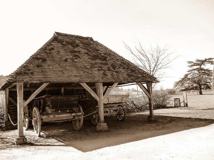 Cart Photograph - Wiston Wagon Shed by Dawn OConnor