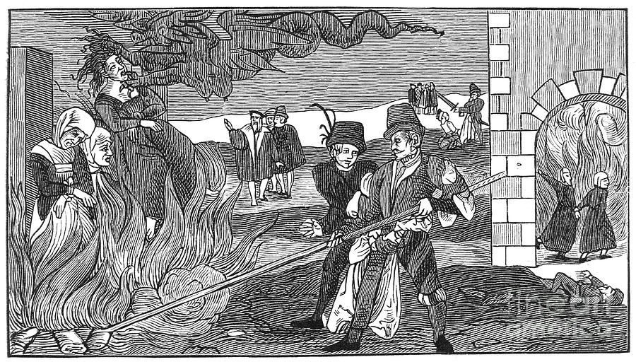 1555 Photograph - Witch Burning, 1555 by Granger