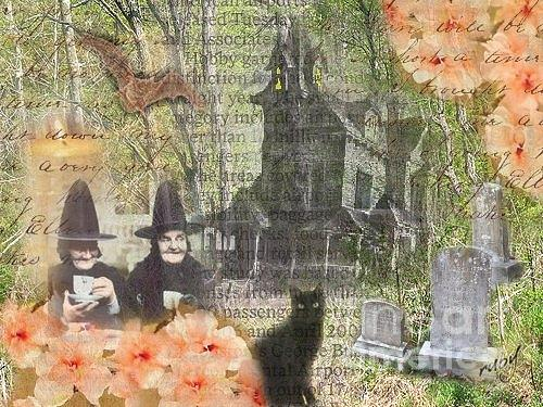 Witches At Home Digital Art by Ruby Cross