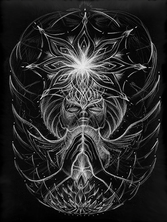 Jerod Kytah Drawing - Withinfinite Gratitude by Jerod  Kytah