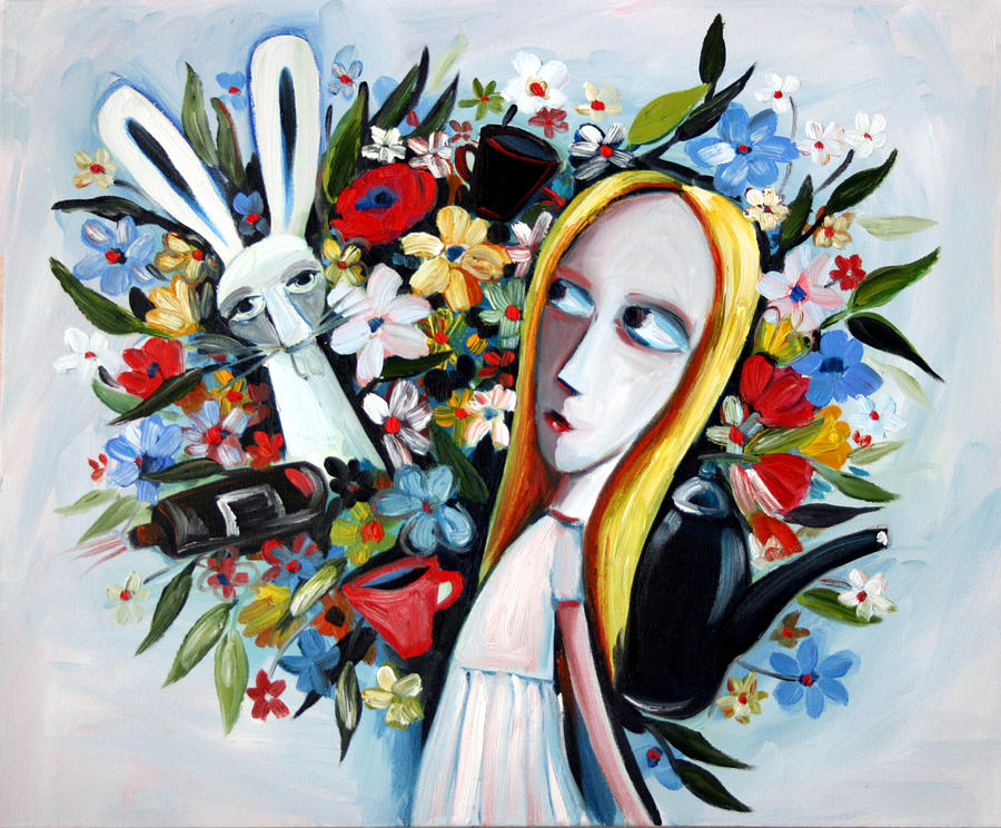 Alice Painting - Without Fear by Leanne Wilkes