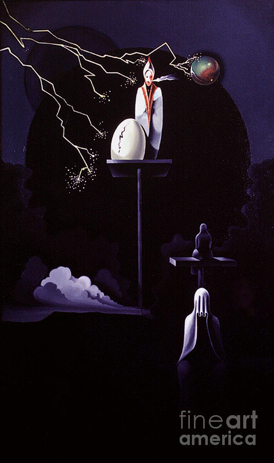 Surrealism Painting - Woe To The Inhabitors by Peter Olsen