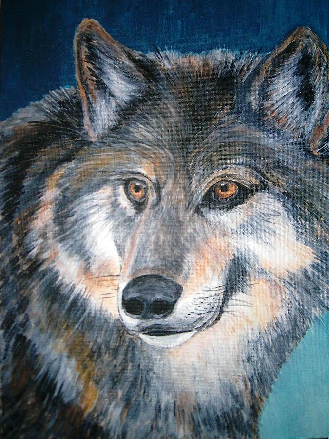 Wolf Painting by Voica Radu