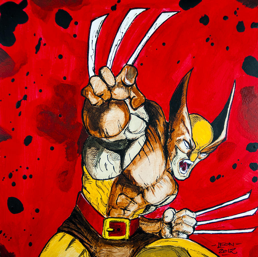 Wolverine Painting - Wolverine by Chris  Leon
