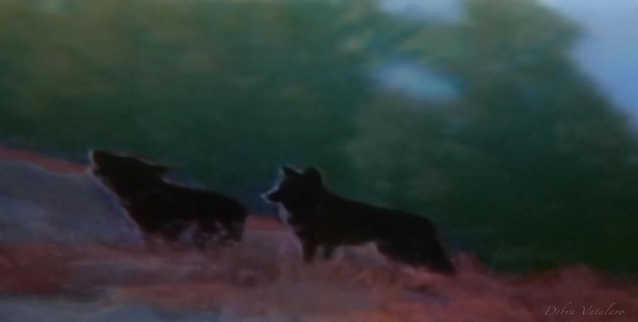 Wildlife Painting - Wolves Passage by Debra     Vatalaro