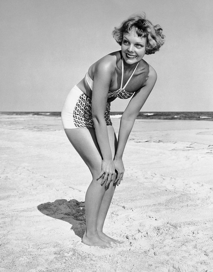 Adults Only Photograph - Woman At Beach Posing by George Marks