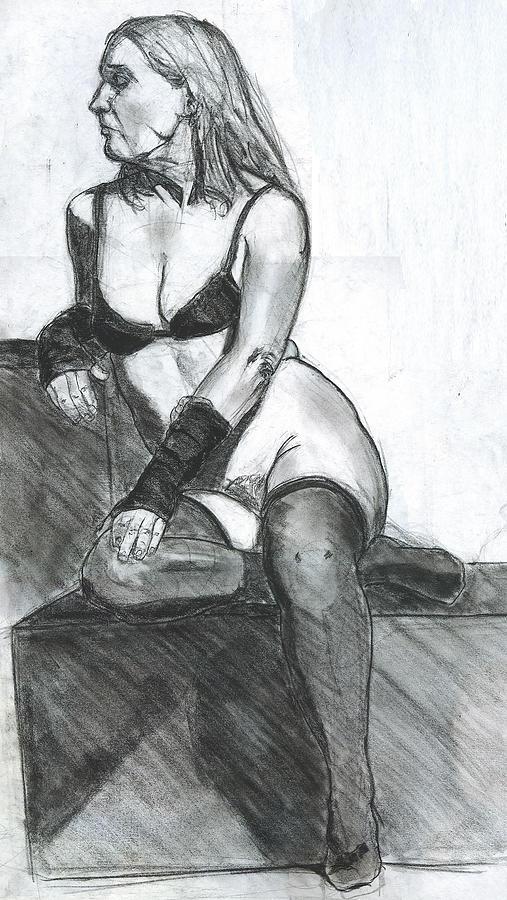 Woman Drawing - Woman by Eric Atkisson