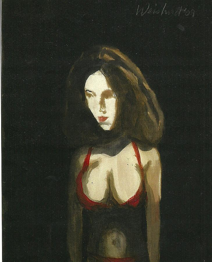 Woman Painting - Woman In Red Bikini 3D by Harry WEISBURD