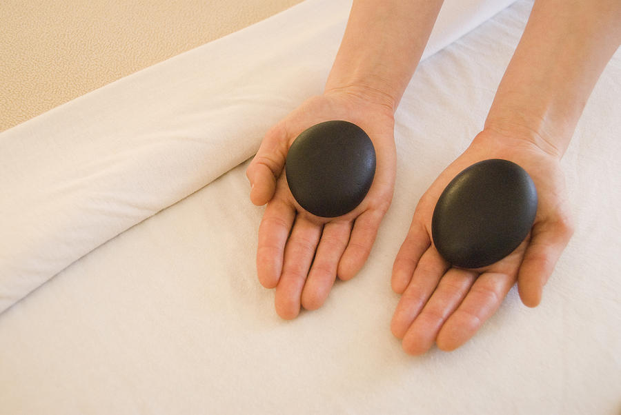 20-24 Years Photograph - Woman Massage Therapist Hands Holding by James Forte