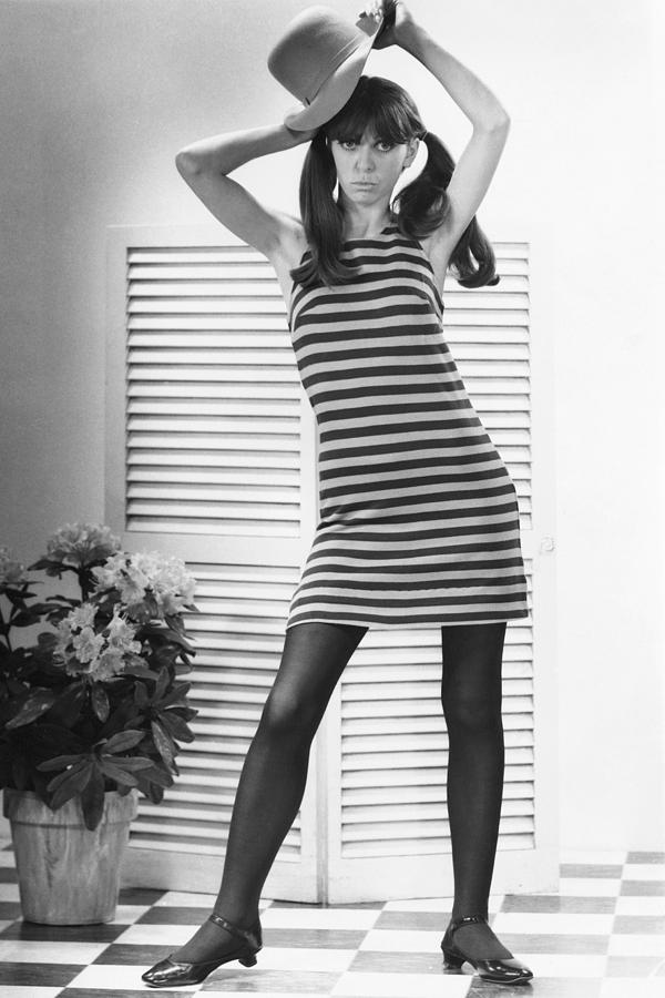 Adult Photograph - Woman Modeling Fashion by George Marks