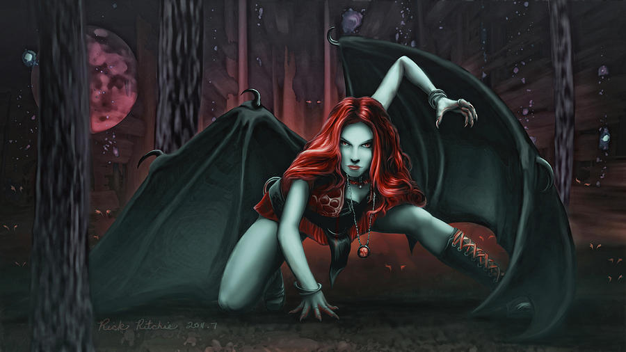 Vampire Painting - Woman Of The Shadow by Rick Ritchie