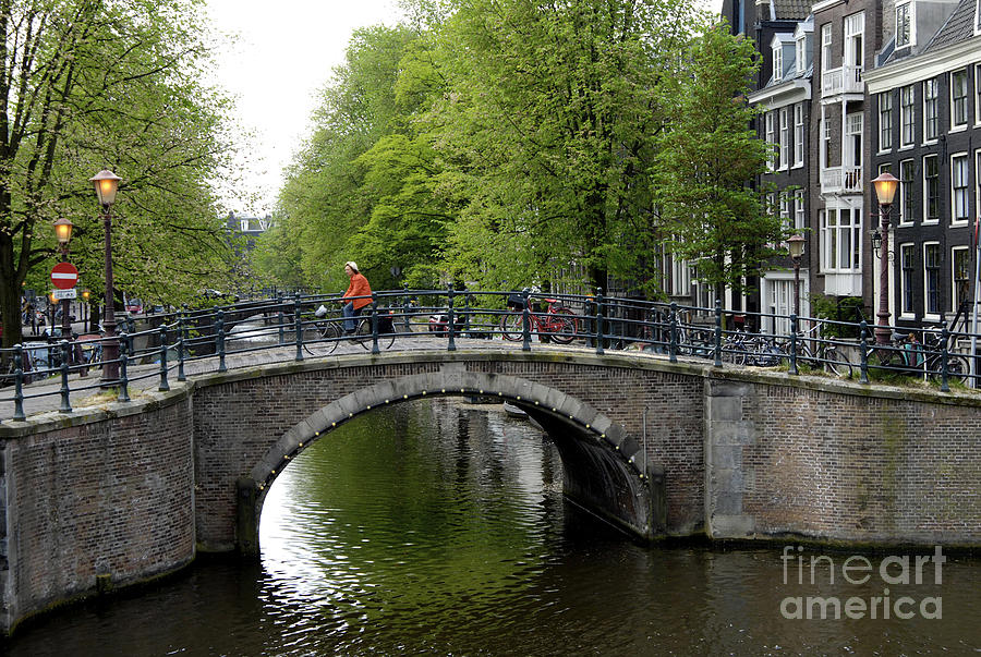 Amsterdam Photograph - Woman On Bike by Ed Rooney