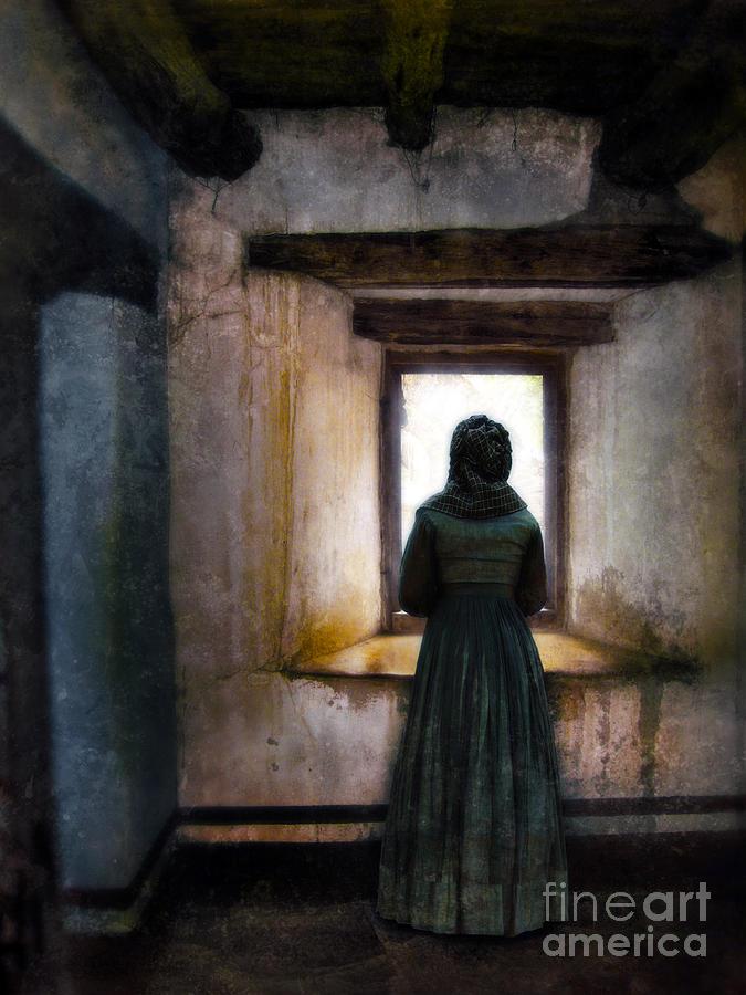 Woman Standing At Window Photograph by Jill Battaglia