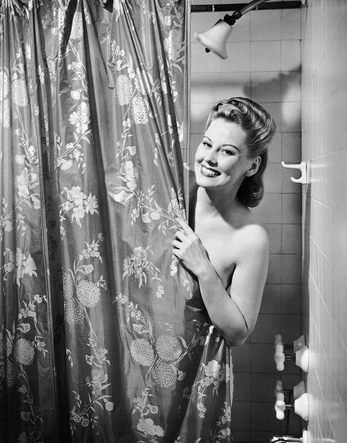 Adults Only Photograph - Woman Taking Shower by George Marks