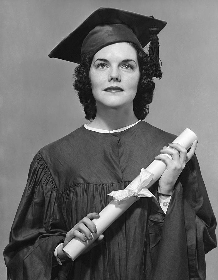 Adult Photograph - Woman Who Graduated by George Marks