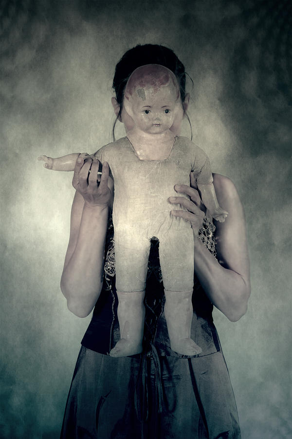 Hide Photograph - Woman With Doll by Joana Kruse