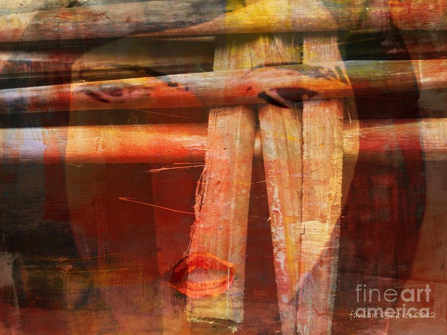 Woman Without Family - Femme Sans Famille Mixed Media by Fania Simon